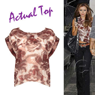 View Item Abstract Print Chiffon Top
